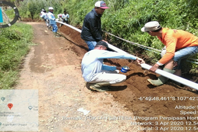 Pekerjaan pembangunan Irigasi untuk lahan pertanaian